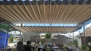 Bán bạt kéo mái hiên quán cafe, Bạt Che Cuốn Kéo Quán Cà Phê Đẹp Giá Rẻ